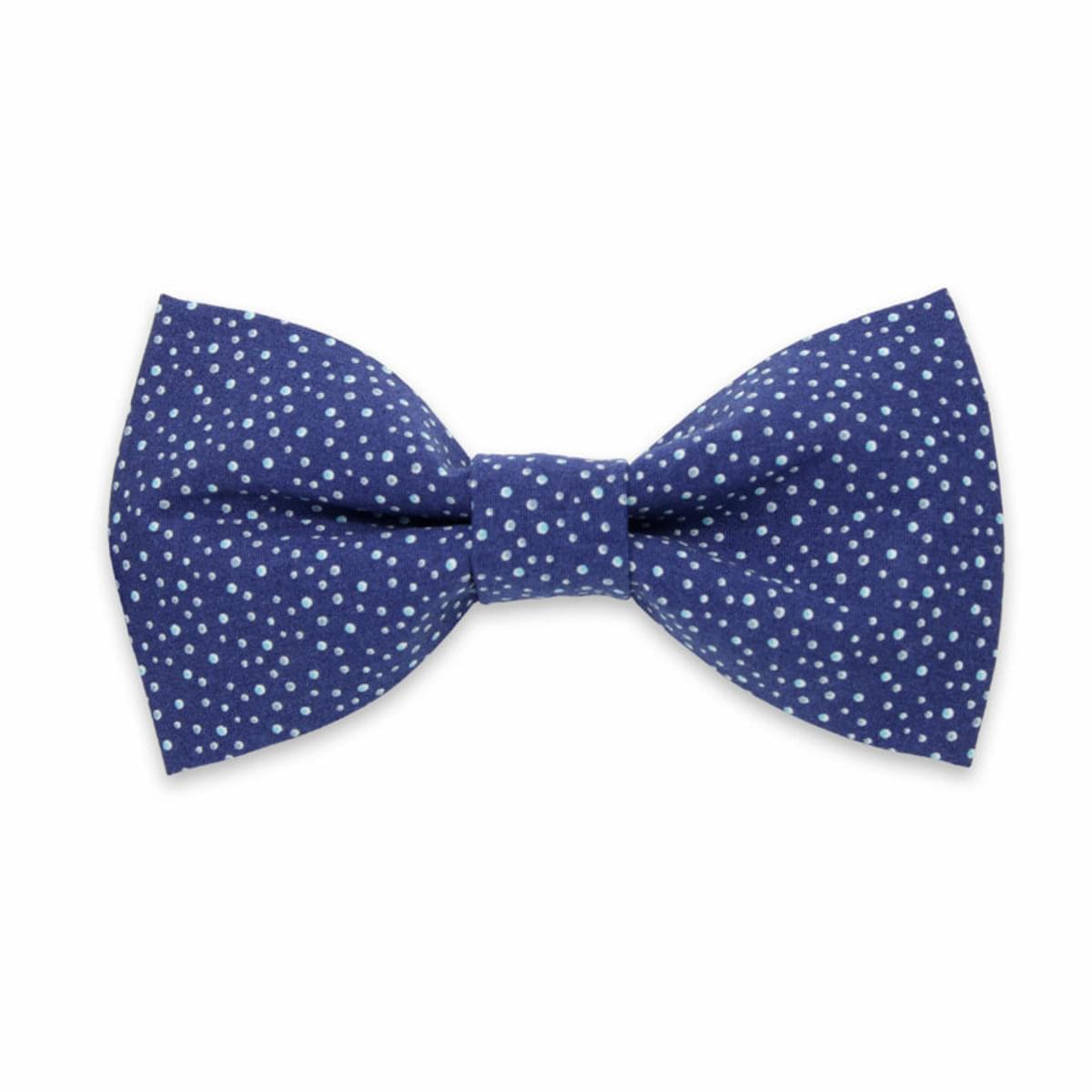 pentru bărbați tethered fluture Willsoor 8076 în albastru culoare cu batistă pentru a clape