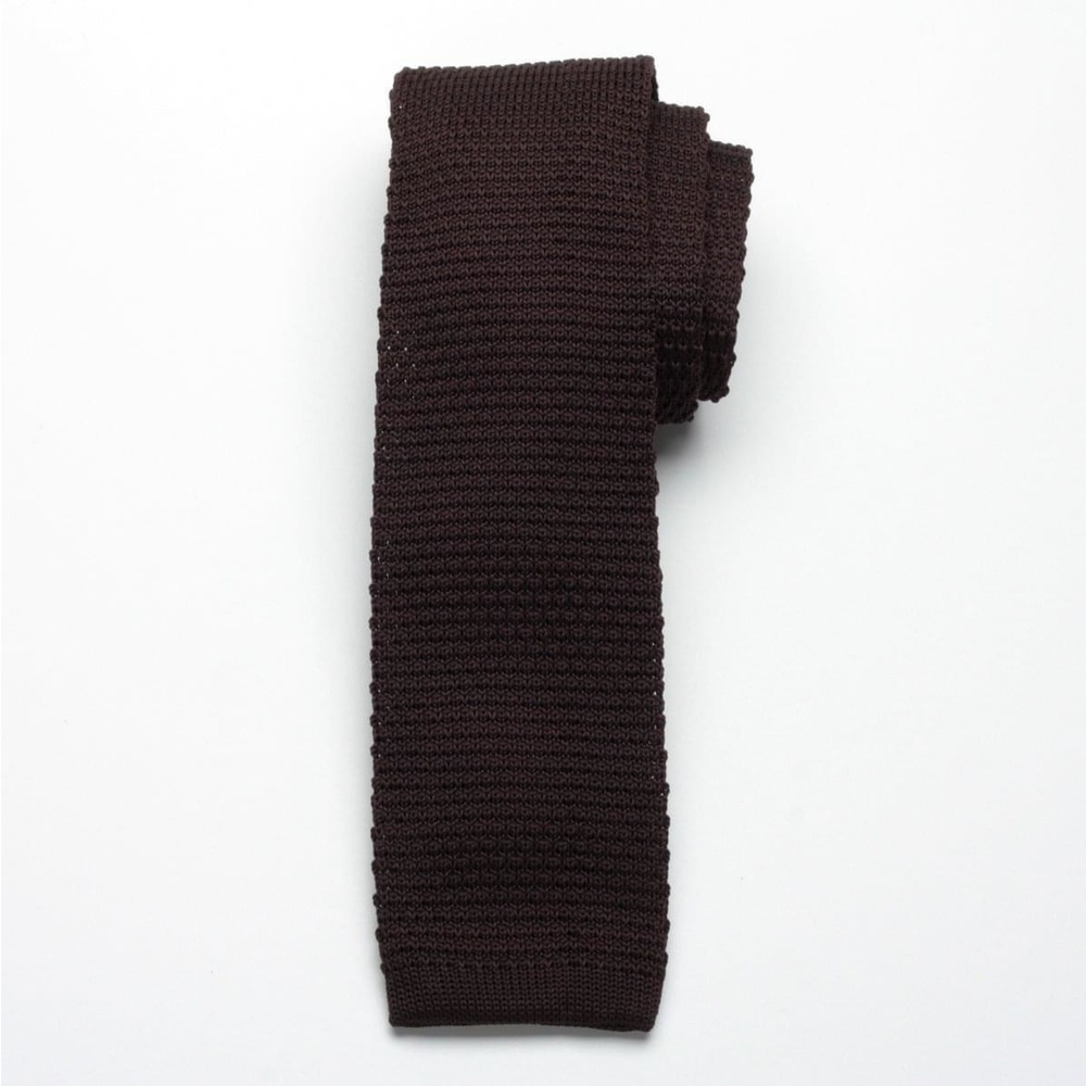 Brown tricotat cravată Willsoor 2323