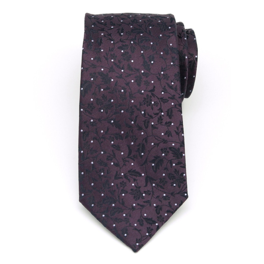 Men classical silk tie (pattern 370) 8442 in purple color