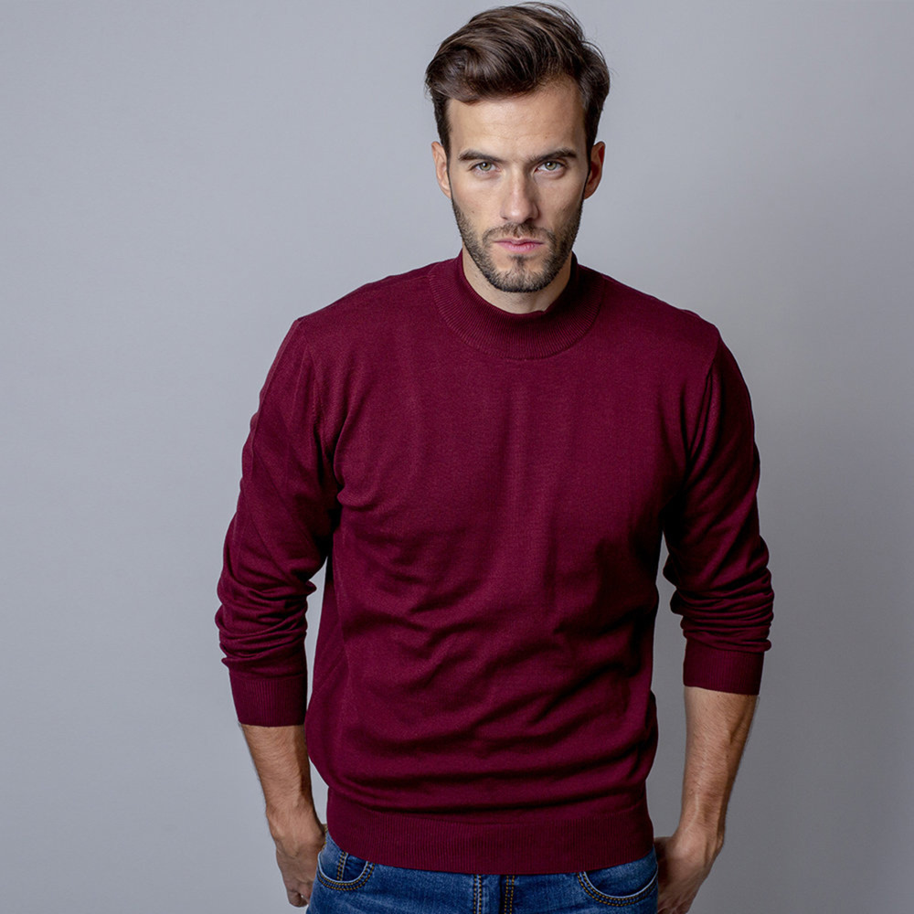 Men sweater with golf Willsoor 8625 in claret color