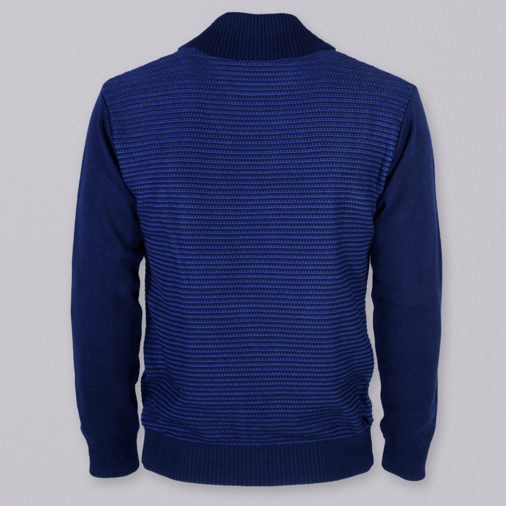 Men sweater Willsoor 8652 in dark blue color