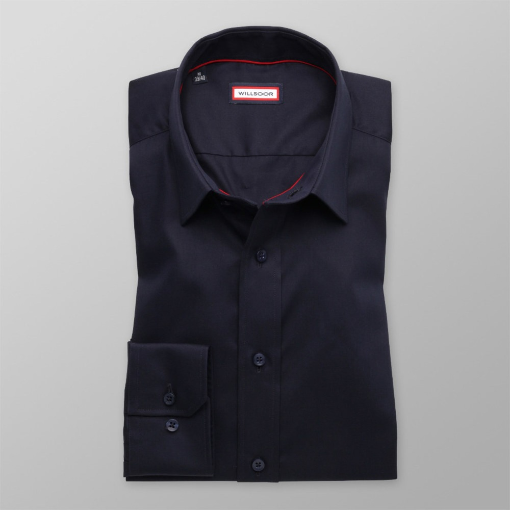 Bărbați cămașă slim fit Willsoor 8882