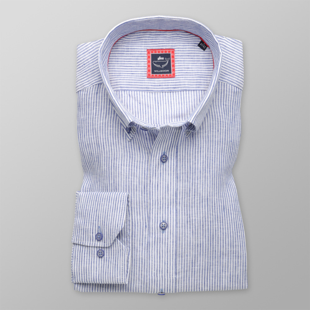 Bărbați cămașă slim fit Willsoor 9470