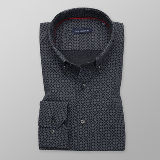 Bărbați cămașă slim fit Willsoor 11608