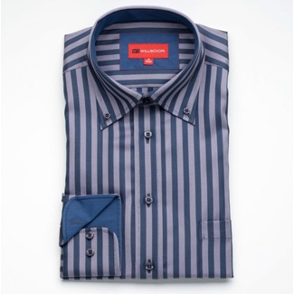 Bărbați cămașă slim fit Willsoor 634