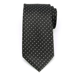 Men classical tie (pattern 1304) 8459 in black color with white pattern, Willsoor