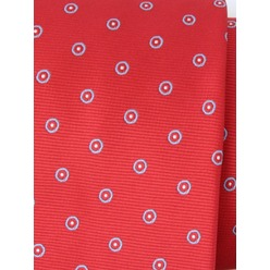 Men classical tie (pattern 1307) 8462 in red color with dots, Willsoor