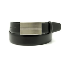 Men leather belt Willsoor 8529 in black color