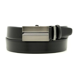 Men leather belt Willsoor 8534 in black color