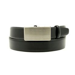 Men leather belt Willsoor 8538 in black color, Willsoor