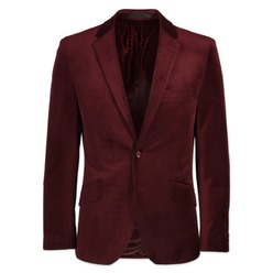 Men suit jacket Willsoor (height 176-182) 8655 in claret color