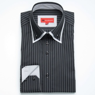 Bărbați cămașă slim fit Willsoor 889