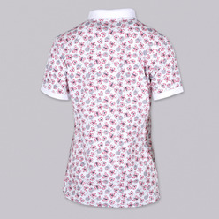 Women's Polo t-shirt 9460 with flowers, butterflies a hearts, Willsoor