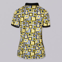 Women's Polo t-shirt 9462 with pattern squares, Willsoor
