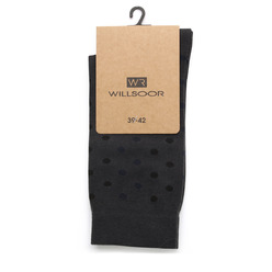 Men socks Willsoor 9507 in graphite color, Willsoor
