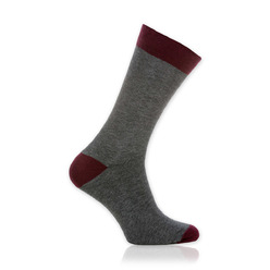 Men socks Willsoor 9510 in gray color, Willsoor