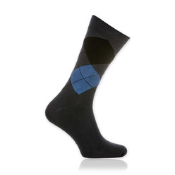 Men socks Willsoor 9512 in graphite color, Willsoor