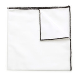 White pocket square 9548 | Willsoor