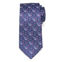 Men's silk tie with floral pattern 9620, Willsoor