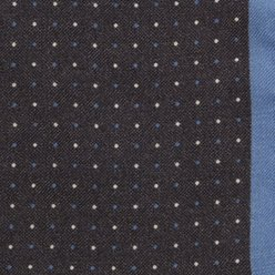 Wool pocket square with dots and border 9632, Willsoor