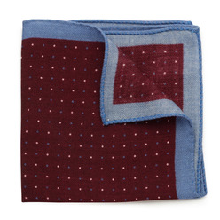 Wool pocket square with dots 9633