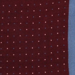 Wool pocket square with dots 9633, Willsoor