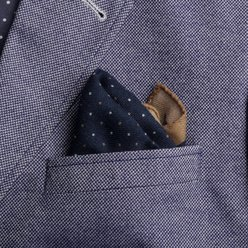 Wool pocket square with dots 9634, Willsoor