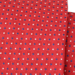 Red tie with squares pattern 9786, Willsoor