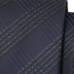 Black tie with grid pattern 9794, Willsoor