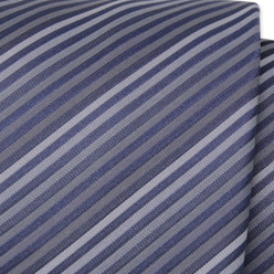 Tie with grey and blue strips 9796, Willsoor