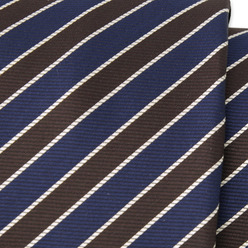 Tie with brown and dark blue strips 9797, Willsoor