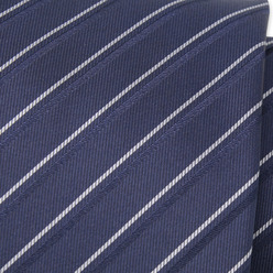Dark blue tie with white strips 9798, Willsoor