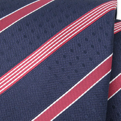 Dark blue tie with red strips 9801, Willsoor