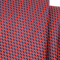 Narrow tie with red geometric pattern 9806, Willsoor